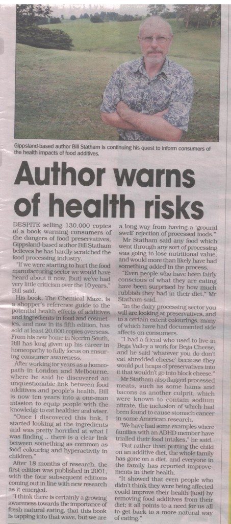 Author Warns of Health Risks